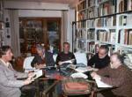 1999, Roma, riunione del gruppo G.A.D. (Gruppo Aniconismo Dialettico) nello studio di G. Di Genova